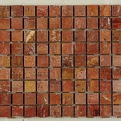 Marble Mosaic Red Travertine 30.50 30.50